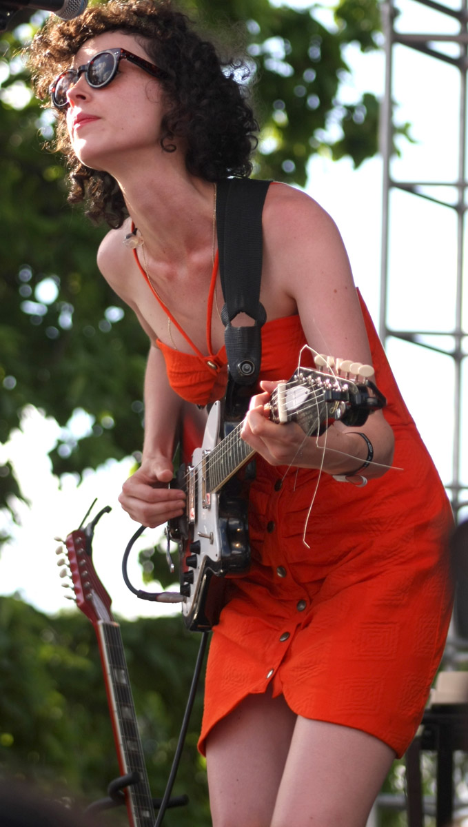 St. Vincent, July 20, 2010, at the Pitchfork Music Festival.