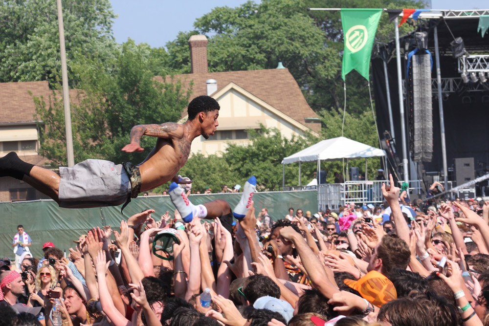 Odd Future, July 17, 2011, at the Pitchfork Music Festival