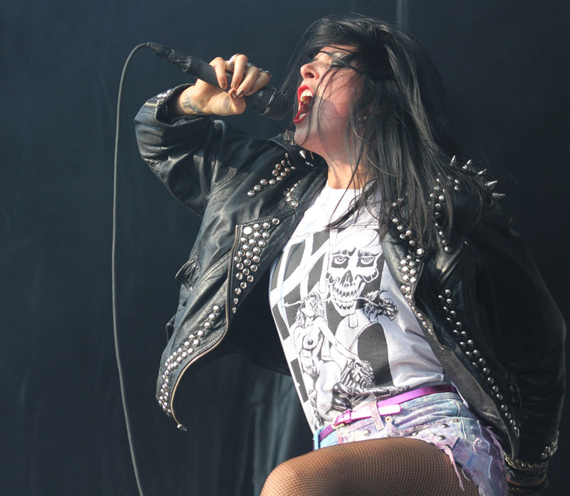 Sleigh Bells, July 14, 2012, at the Pitchfork Music Festival