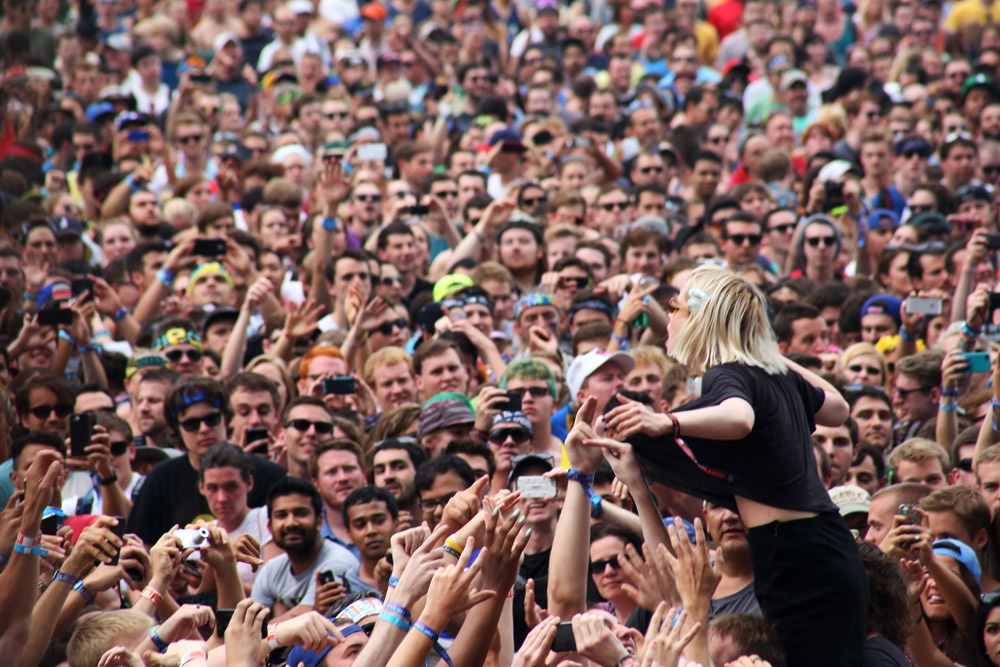Crystal Castles, August 2,  2013, at Lollapalooza