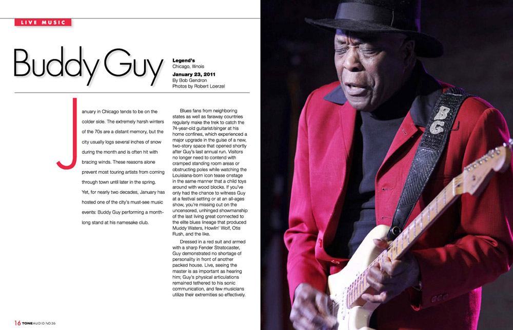 Photo of Buddy Guy in Tone Audio magazine, 2011